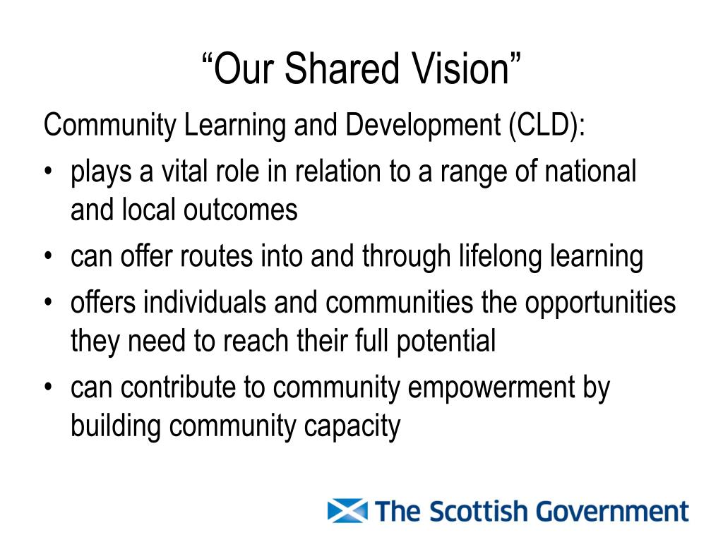 """""""Our Shared Vision"""""""