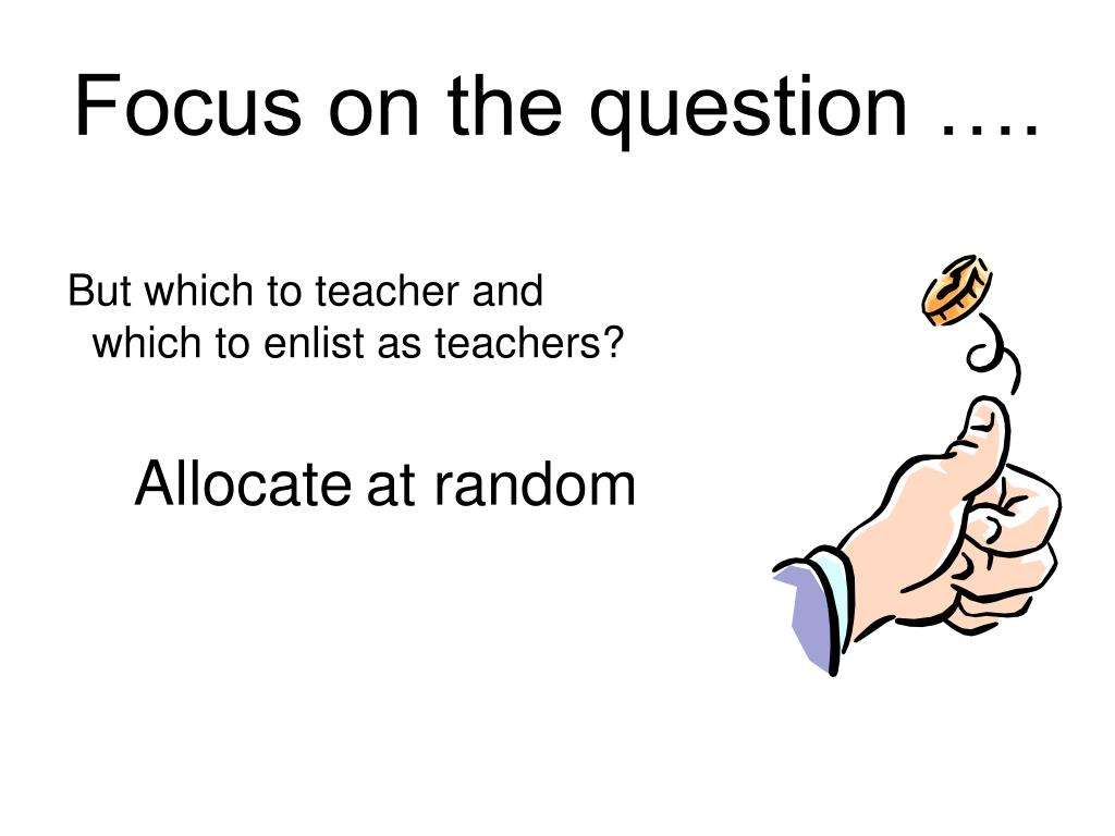 Focus on the question ….