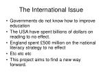 the international issue