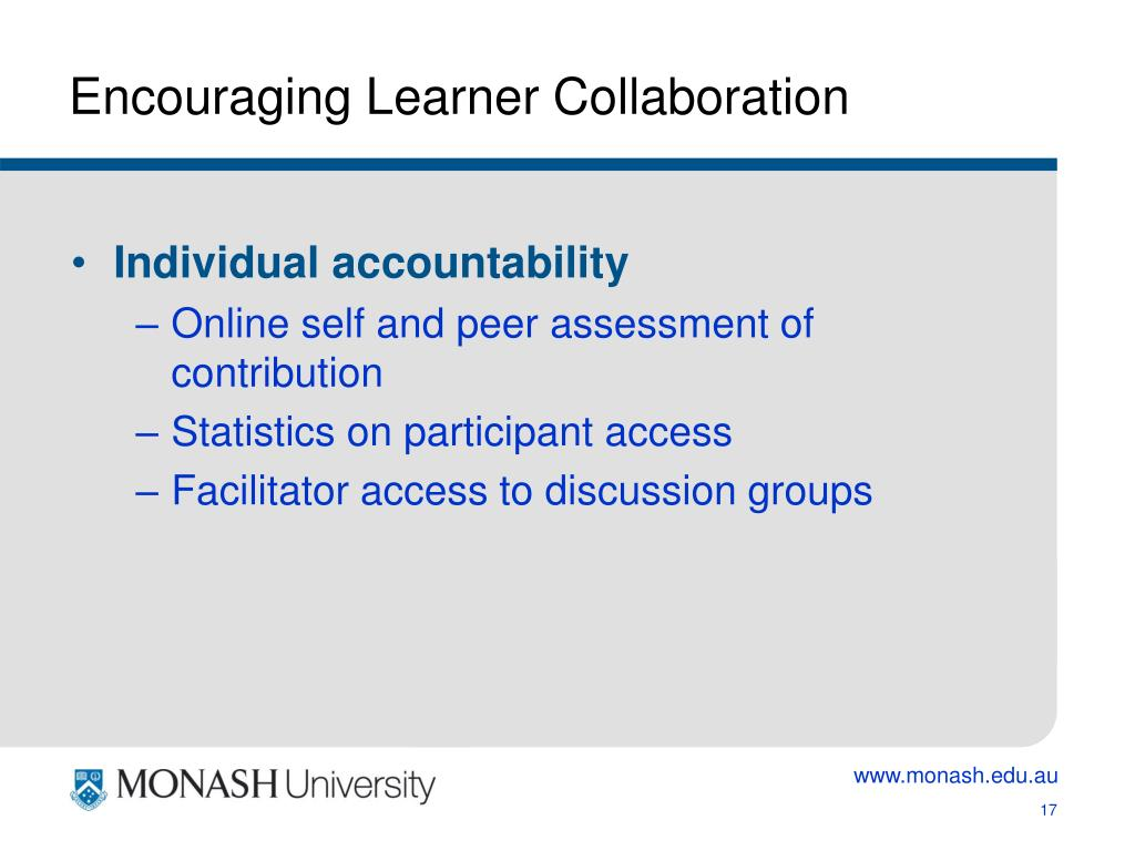 Encouraging Learner Collaboration