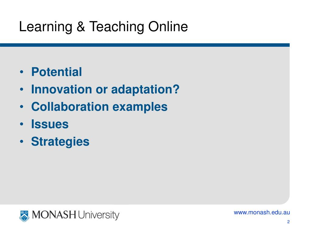 Learning & Teaching Online