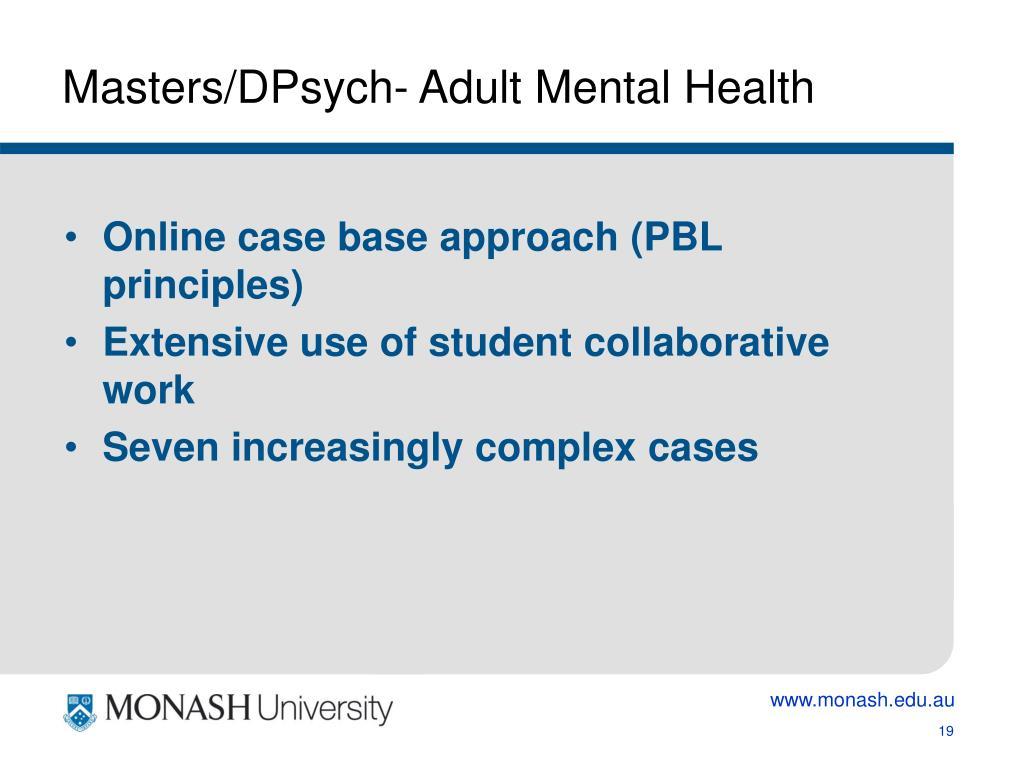 Masters/DPsych- Adult Mental Health