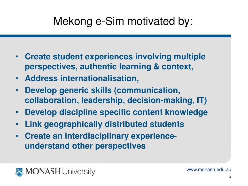 Mekong e-Sim motivated by: