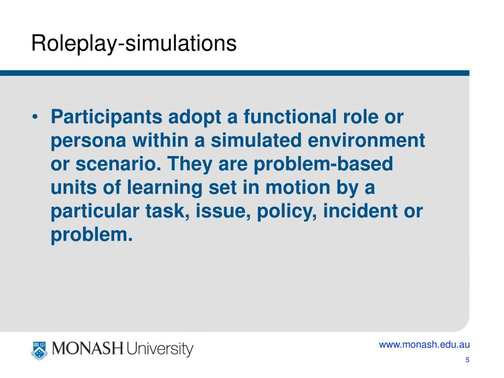 Roleplay-simulations