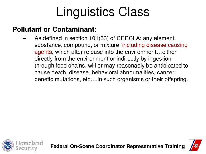 Linguistics Class