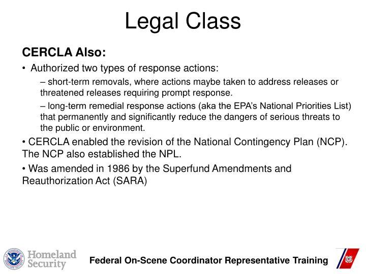 Legal Class