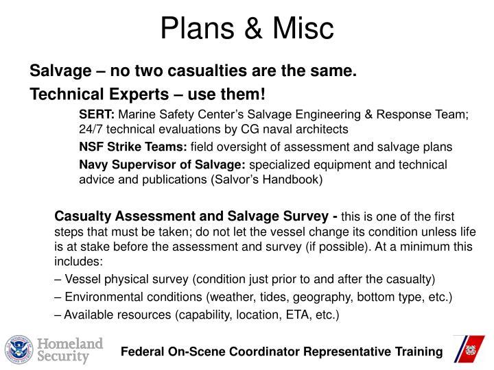Plans & Misc