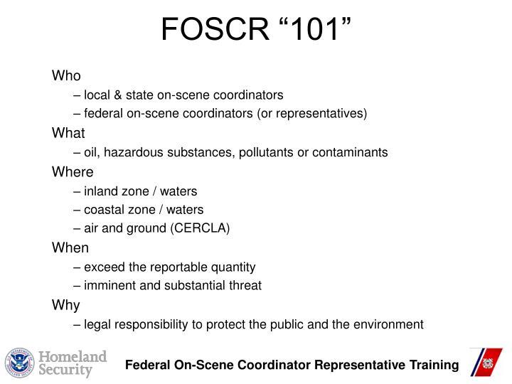 """FOSCR """"101"""""""