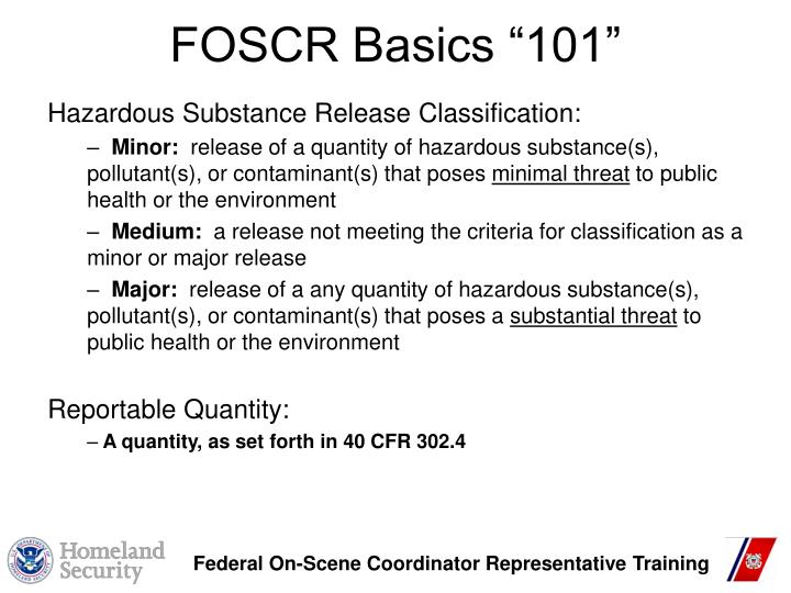 "FOSCR Basics ""101"""