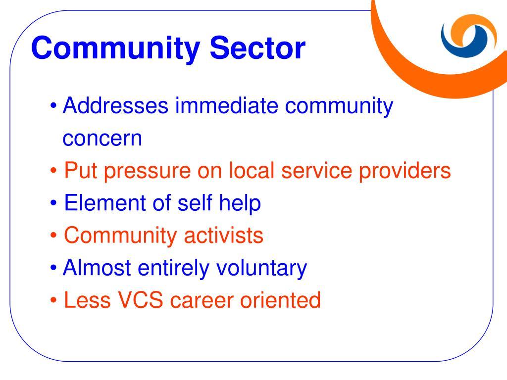 Community Sector
