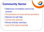community sector