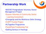 partnership work