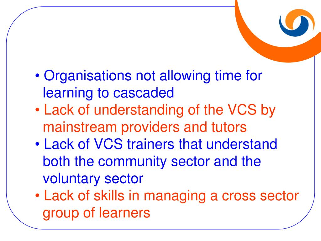 Organisations not allowing time for