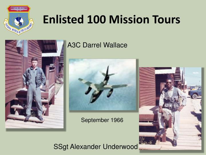 Enlisted 100 Mission Tours