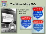 traditions misty facs