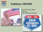 traditions oef oef