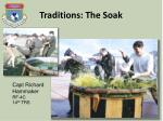 traditions the soak1
