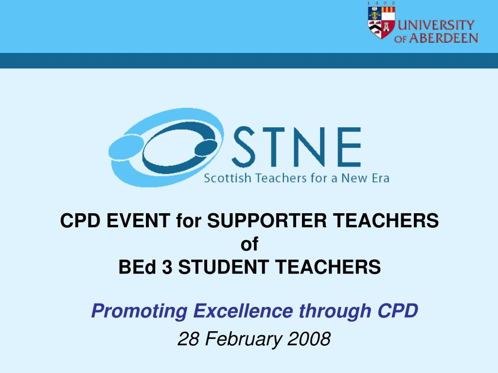 CPD EVENT for SUPPORTER TEACHERS
