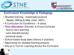 curriculum knowledge pedagogy