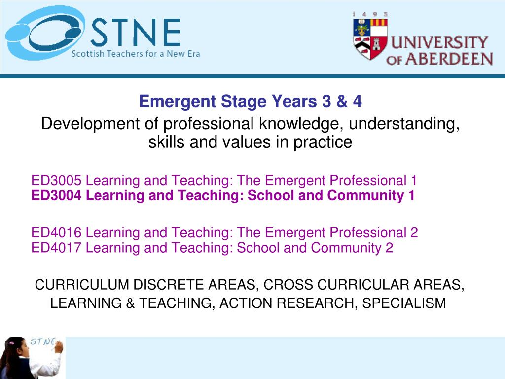Emergent Stage Years 3 & 4