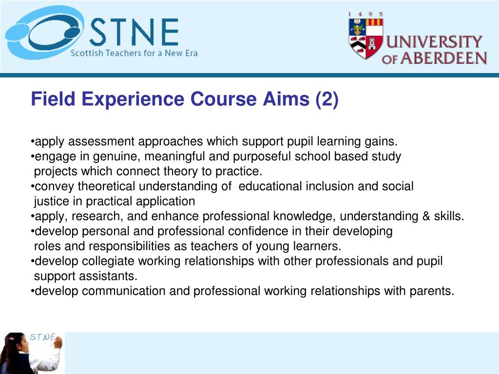 Field Experience Course Aims (2)