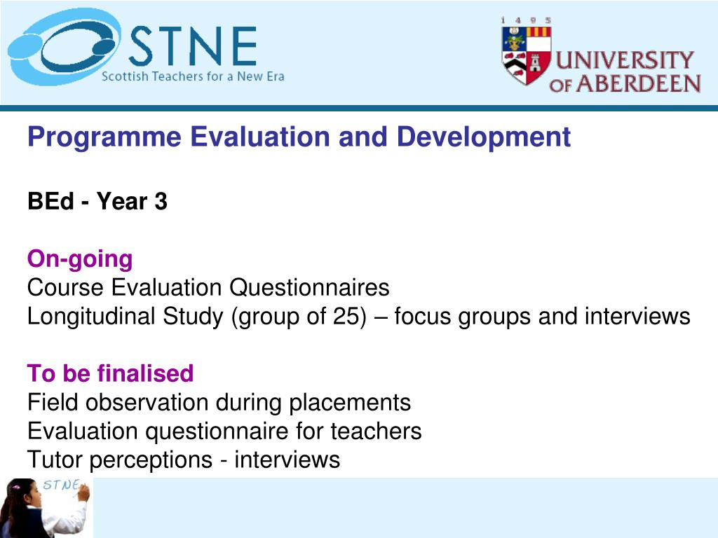 Programme Evaluation and Development