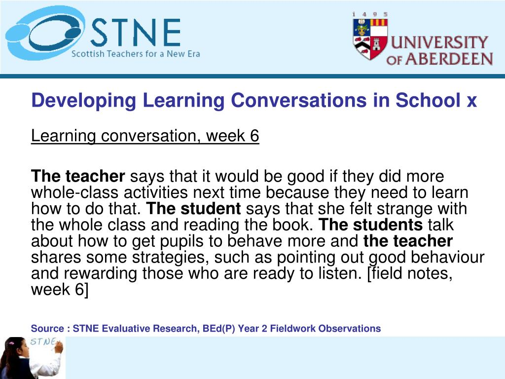 Developing Learning Conversations in School x