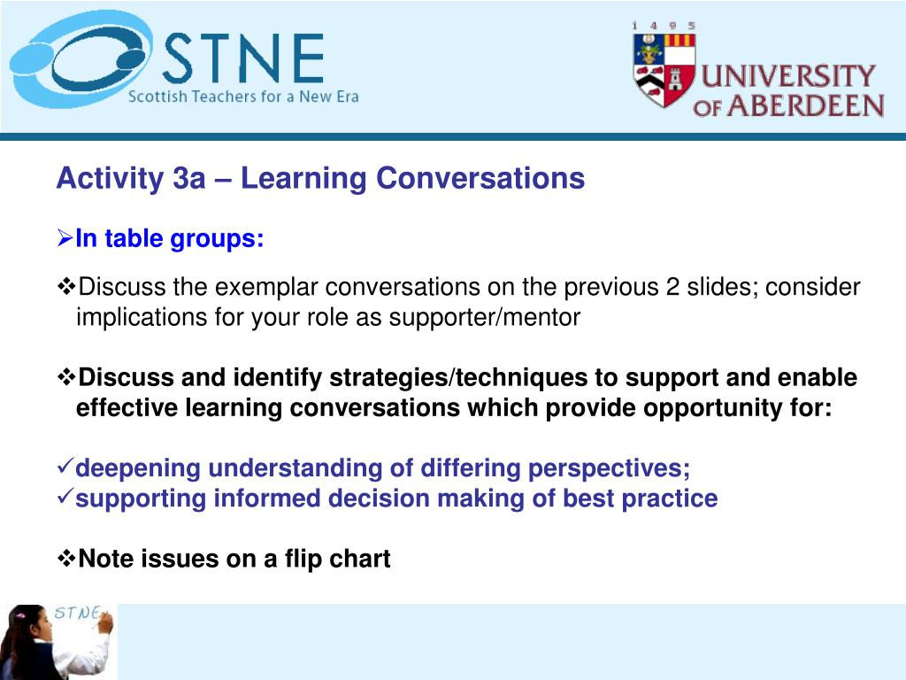 Activity 3a – Learning Conversations