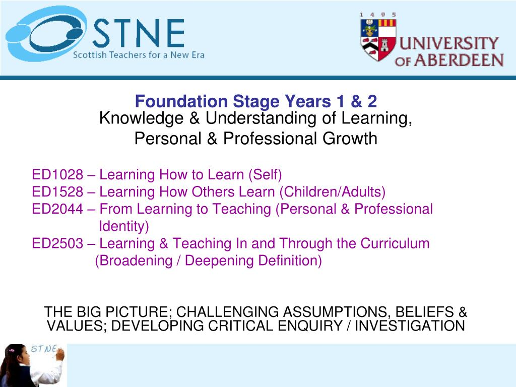 Foundation Stage Years 1 & 2