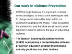 our work in violence prevention22