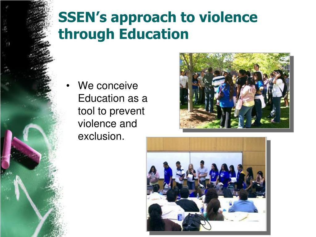 SSEN's approach to violence through Education