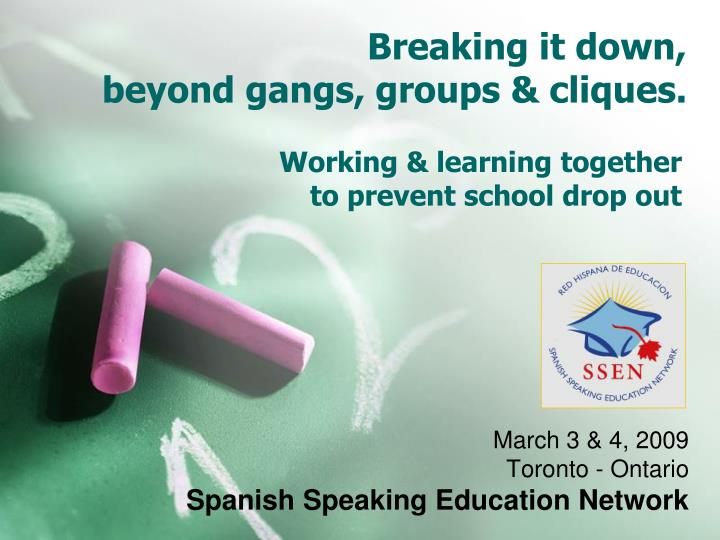Working learning together to prevent school drop out