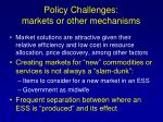 policy challenges markets or other mechanisms