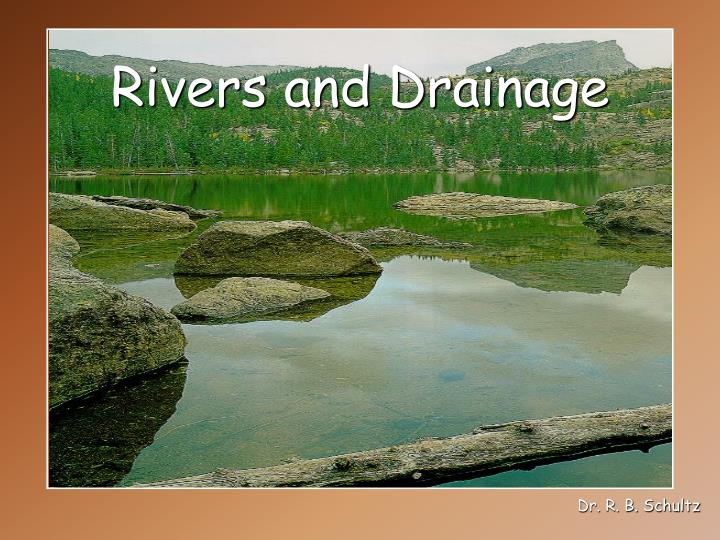 Rivers and drainage
