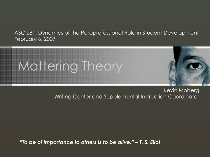 mattering theory n.