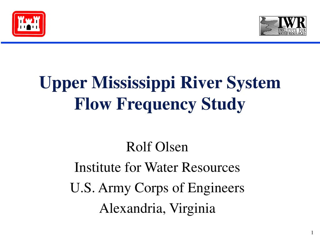upper mississippi river system flow frequency study l.