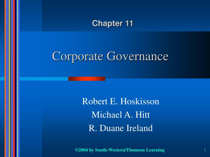 corporate governance n.