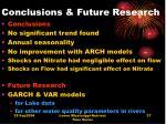 conclusions future research