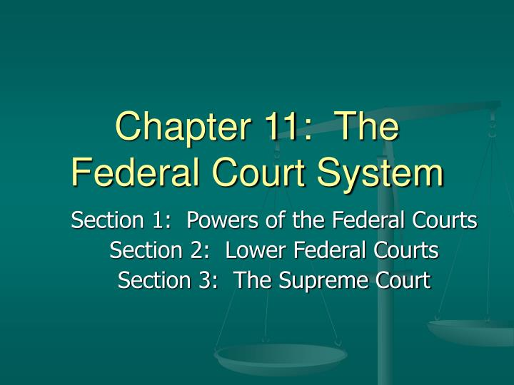 chapter 11 the federal court system n.