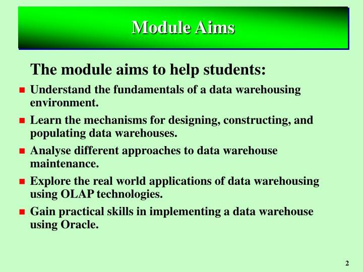 Module aims