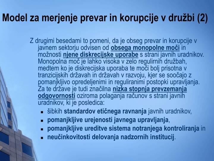 Model za merjenje prevar in korupcije v družbi (2)
