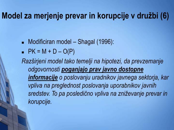 Model za merjenje prevar in korupcije v družbi (6)