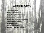 geology cont