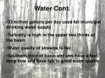 water cont