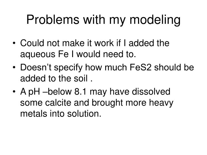 Problems with my modeling