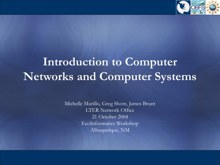 introduction to computer networks and computer systems n.