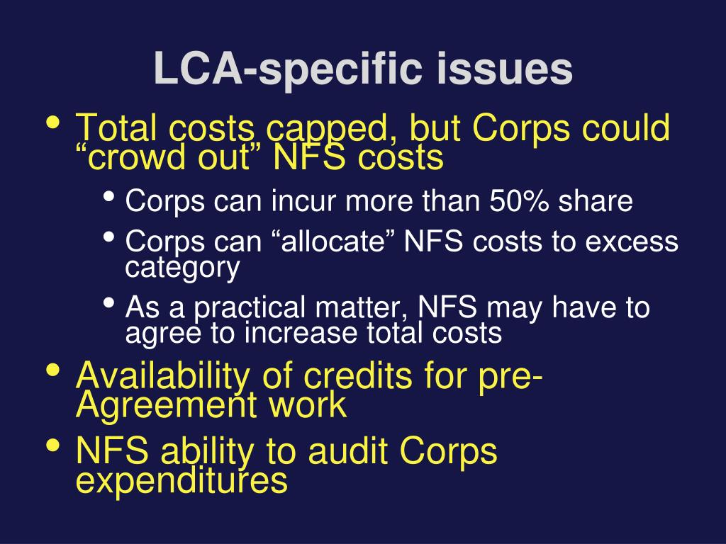 LCA-specific issues