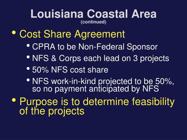 Louisiana coastal area continued