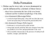 delta formation