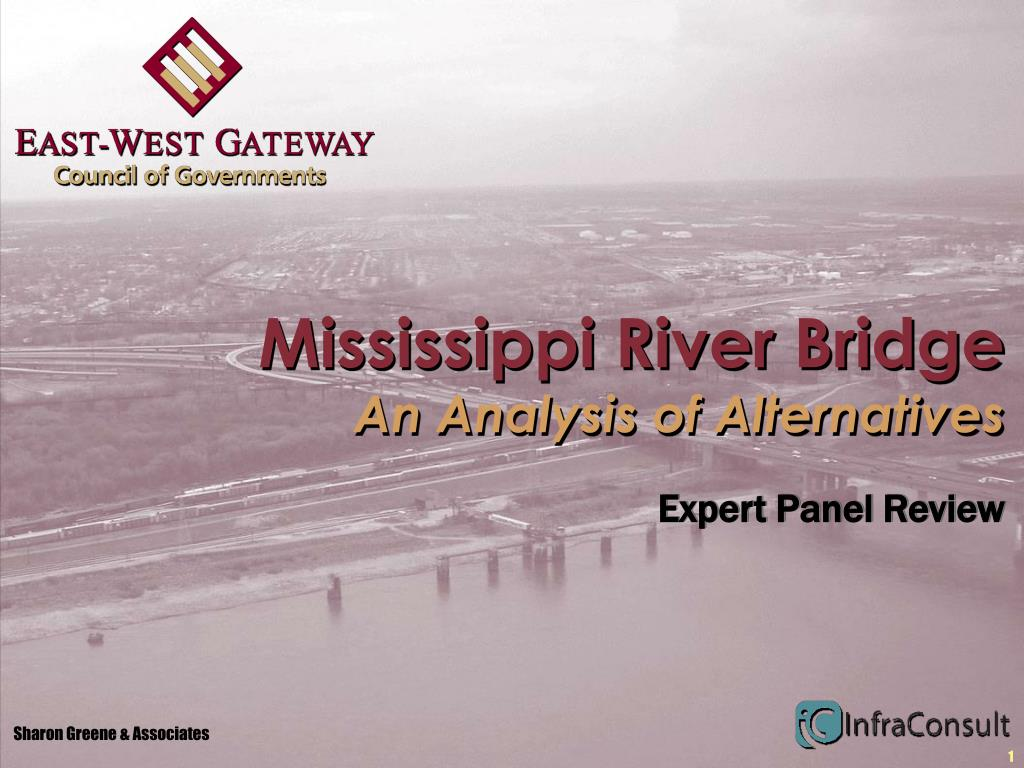mississippi river bridge an analysis of alternatives l.